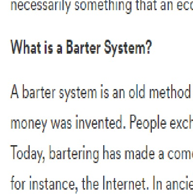 Advantages and disadvantages of barter trade system